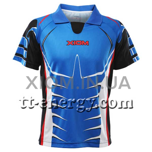 table tennis shirt xiom chrome